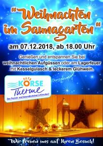 Plakat Weihnachtssauna